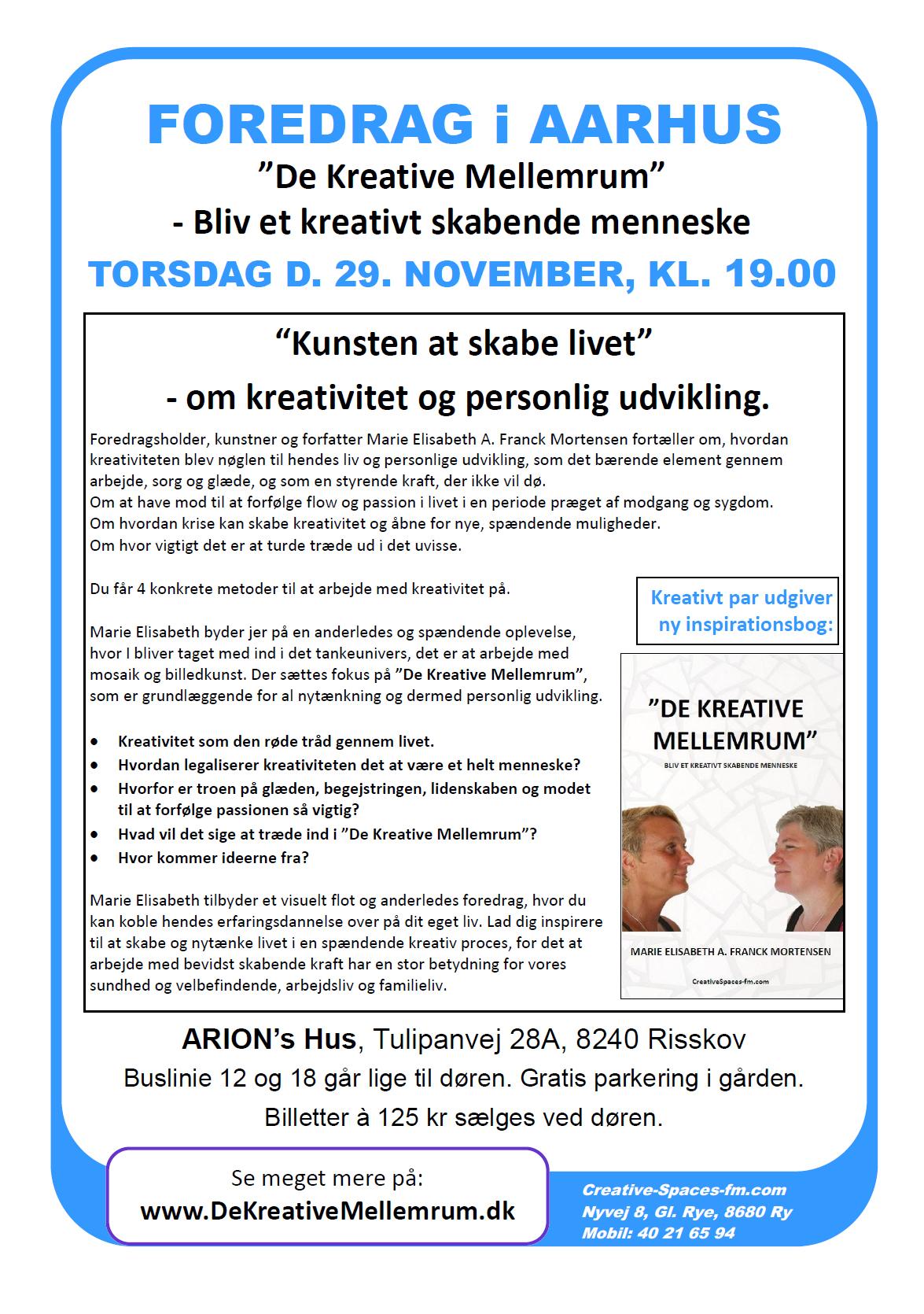 Kom til foredrag i Aarhus d. 29. november 2012