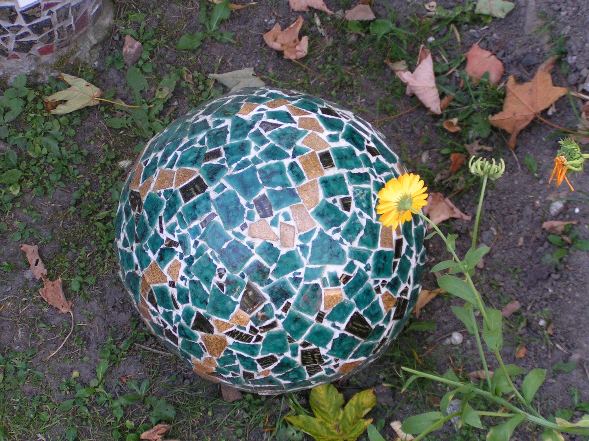 Kugle i mosaik - mosaic ball