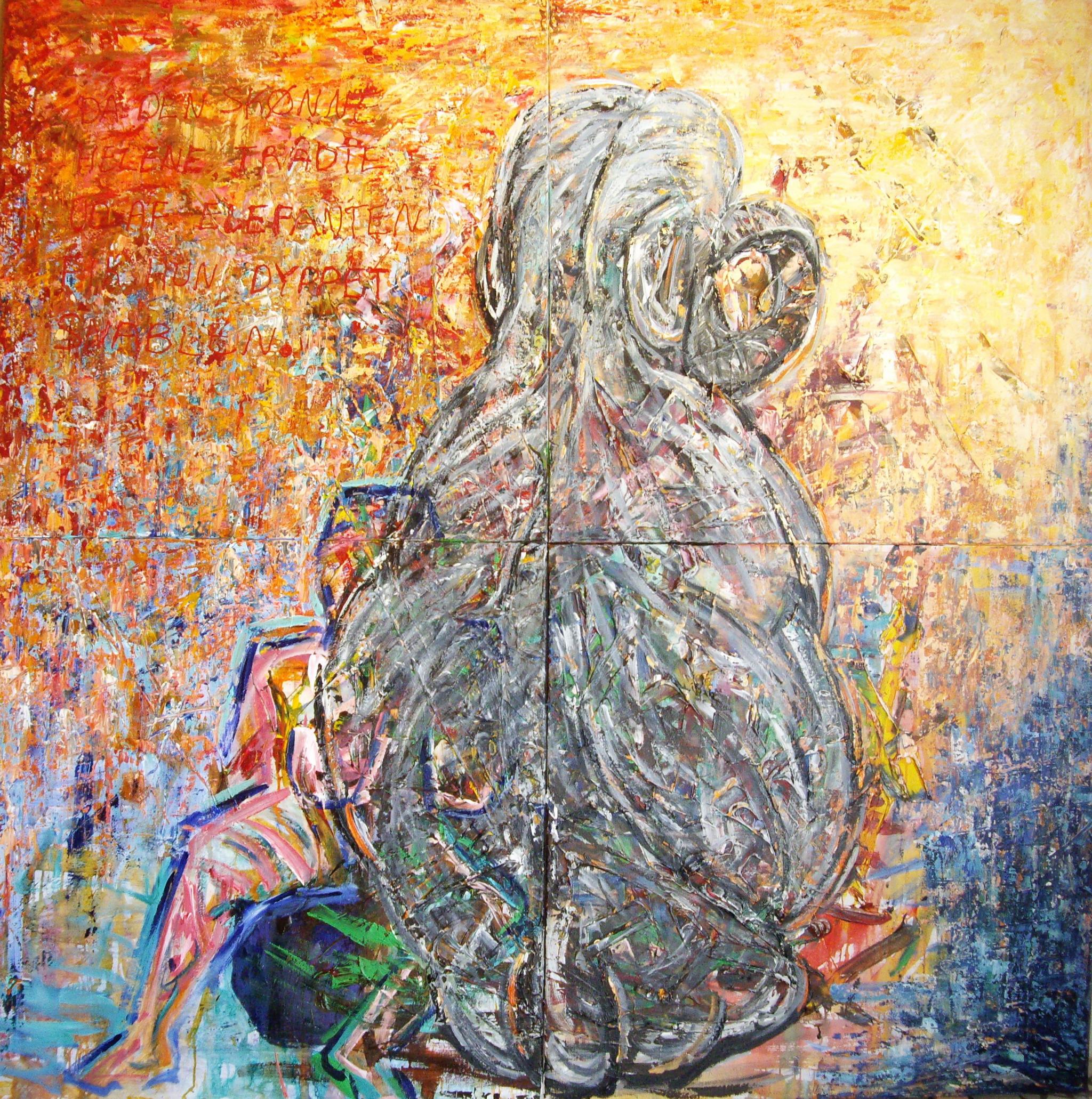 Elefanten maleri - Elephant painting