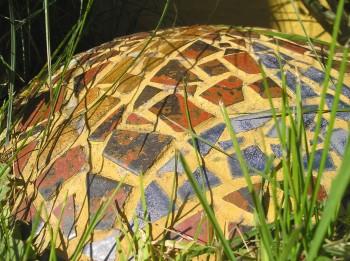 Nærbillede af mosaik