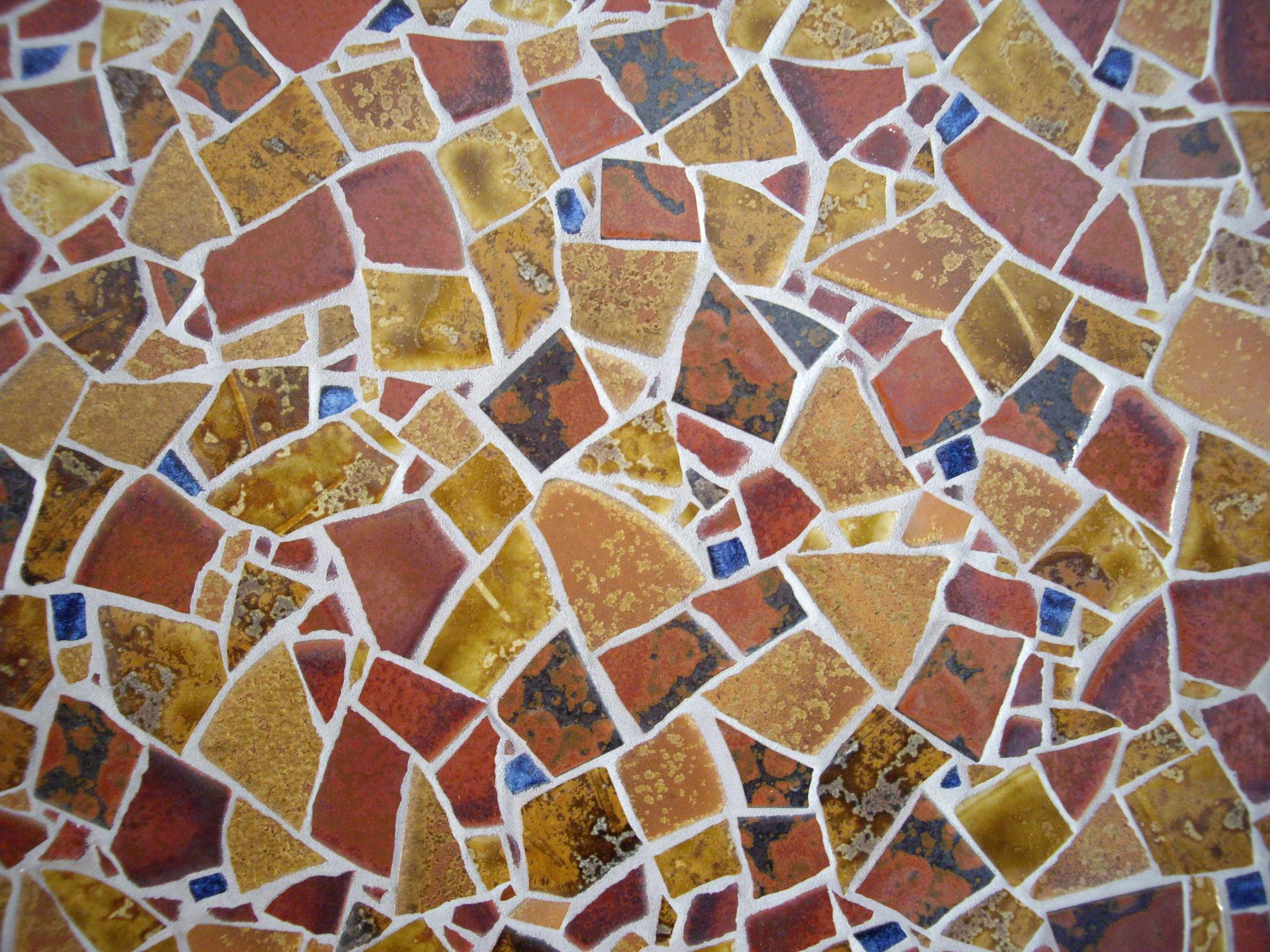 Udsnit af mosaik vægudsmykning - close up mosaic
