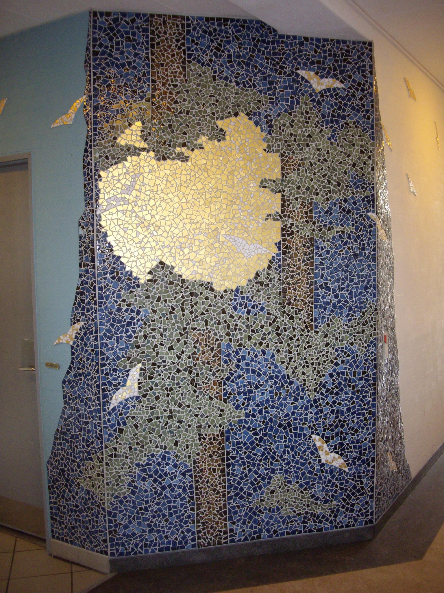 Stor mosaik vægudsmykning - large mosaic wall decoration