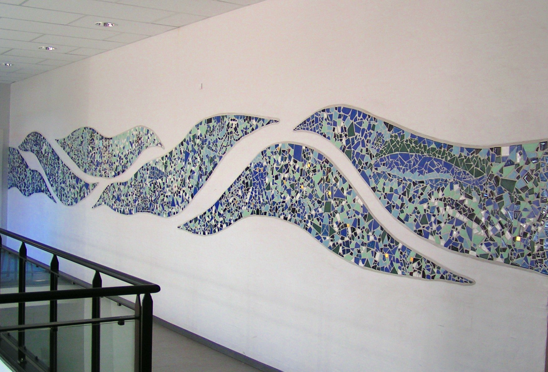 Bølgen i mosaik - The Wave mosaic wall decoration