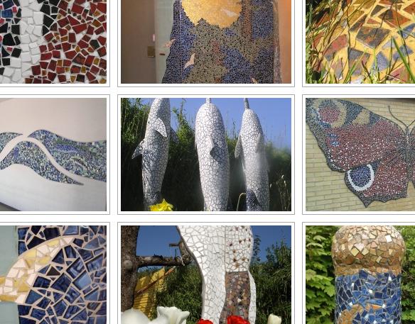 Galleri med mosaikker lavet af Marie Elisabeth A. Franck Mortensen, De Kreative Mellemrum