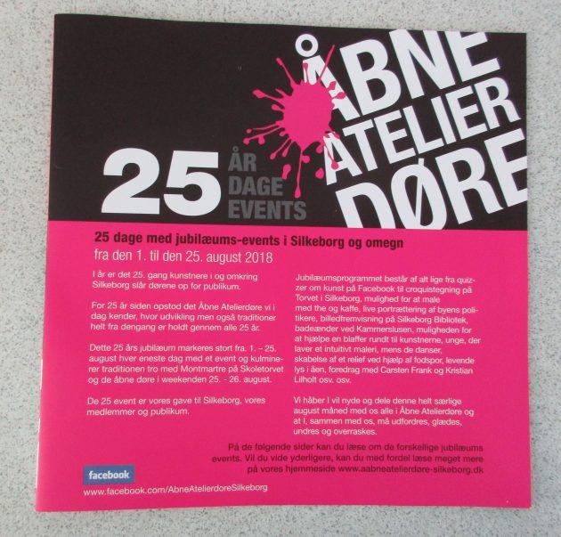 25 events - Åbne Atelierdøre 2018