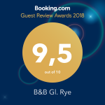 Booking.com Award 2018 B&B Gl. Rye