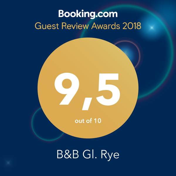 Booking.com Award 2018 B&B Gl. Rye